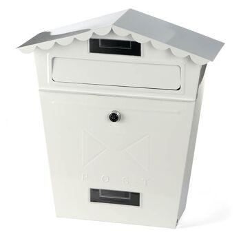 28-805461, Kynast Metall Briefkasten 33,5 x 13 x 35,5 cm inkl. Montagezubehör