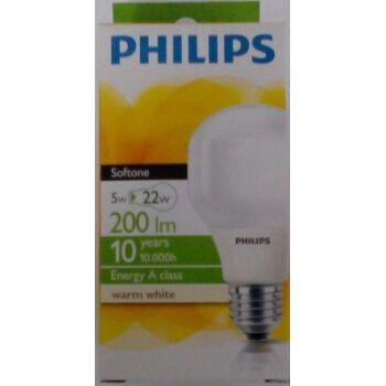 12-662552, PHILIPS Energiesparbirne 5w E27  200lm  soft 10.000h  warm-weiß 220-240V Energy A-Class