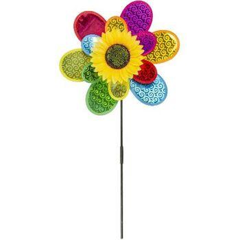 21-4861, Windmühle Blume 75 cm, tolle Deko für Garten, Balkon, Terrasse, Camping usw
