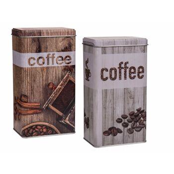 12-101932, Metall Kaffeedose, Coffee, Vintage Look, Aufbewahrungsdose