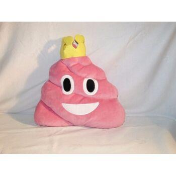 27-22259, Plüsch Haufen 12 cm, pink mit Krone Emoticon
