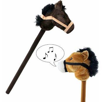 27-31500, Pferd am Stab 80 cm mit Sound (Wiehern, Galoppgeräusch)