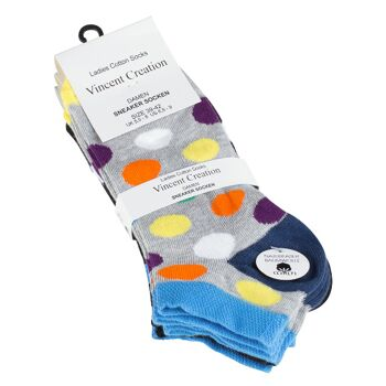 Vincent Creation® Damen Sneakersocken