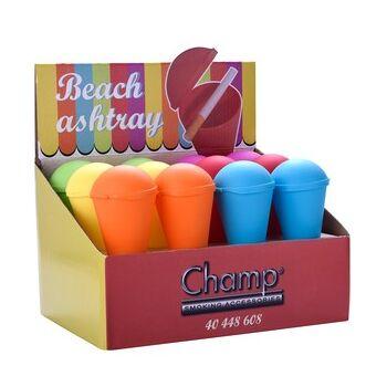 12-40448608, Aschenbecher Eistüte, ideal für z. B. Strand, Wandern, Pool, usw. Strandaschenbecher