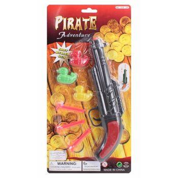 27-61955, Piratenpistolen Set mit 3 Pfeilen und 3 Enten, 38,5 x 19 cm