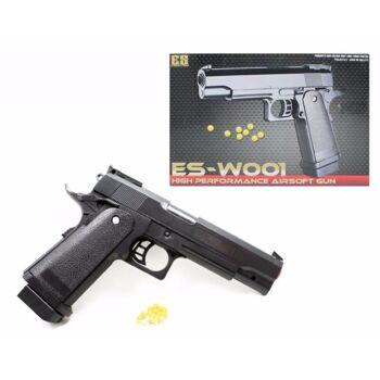 06-6941, Softair Pistole 23 cm, schwere, massive Ausführung, mit Magazin, ab 14 Jahren