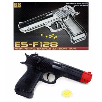 06-6944, Softair Pistole 23 cm, Kugelpistole mit Magazin, mit Munition, ab 14 Jahren