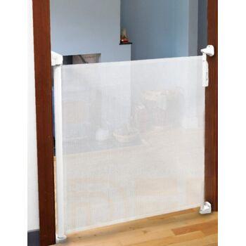 Lionelo Tulia Baby Tür- u. Treppenschutzgitter weiß Sturzsicherung Rollo einrollbar 0-140 cm