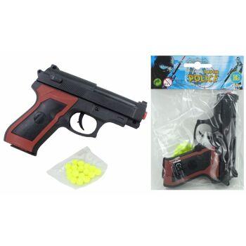 27-60335, Softair Pistole mit Magazin und Munition, Kugelpistole