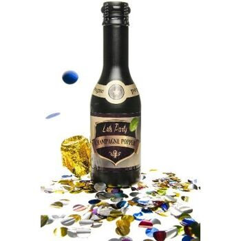 27-46154, Party Popper Champagner Flasche Konfettiwerfer Party Popper, Partypopper, Konfettishooter, Konfettikanone, Party, Event, Silvester, Karneval, Fasching, usw