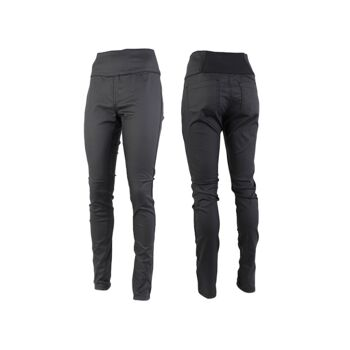 Damen Hosen Hose High Waist Skinny Stretch-Einsatz Gummizug hinten im Bund - 2,79 Euro