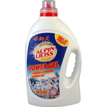 Waschmittel, Vollwaschmittel flüssig, GOLD EDITION, POWER GEL KONZENTRAT 1,5 = 26 Waschladungen