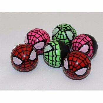 06-6133, Flummi, 3,2 cm, im Spinnendesign, Springball, Flummiball