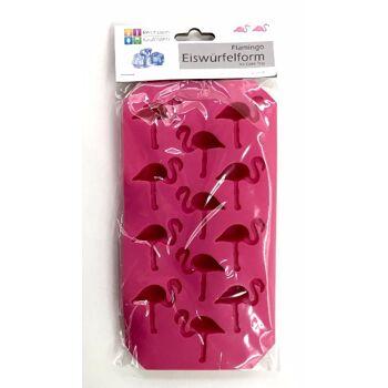 12-77119, Eiswürfelform Flamingoform für 12 Eiswürfel, Eiswürfelbereiter, Eiswürfelform