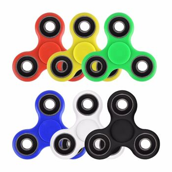 Hand Finger  Fidget Spinner, 4 Lager, in Colorbox, Anti-Stress div Farben