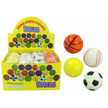 21-4790, Sportball Knautschball 6 cm, Schaumstoffball, Springball, Wurfball, Wasserball, Knetball++++++++