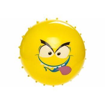 21-4815, Noppenball mit Gesicht 15 cm Fussball, Beachball, Strandball, Stachelball, Massageball, Wasserball, Wurfball, Spielball