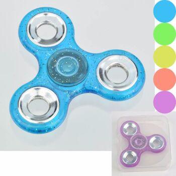 28-149329, Hand Spinner Glitter, Fingerkreisel Handspinner , Antistress, Entspannung, usw