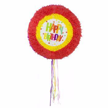 27-50013, Pinata Happy Birthday Sterne 48cm, Partydeko, Eventdeko