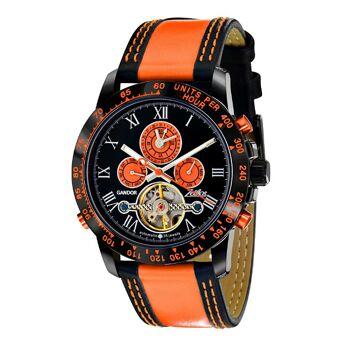 Zeitlos ZL-GBO-3 Gandor Race Herrenuhr Armbanduhr schwarz orange Uhr Herren Männer Mann Zeit Watch Clock