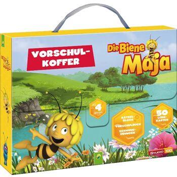 12-90658, Die Biene Maja Vorschulkoffer: Vorschulbuch, Schwungübungen, Lernkarten, Rätselblock++++++++