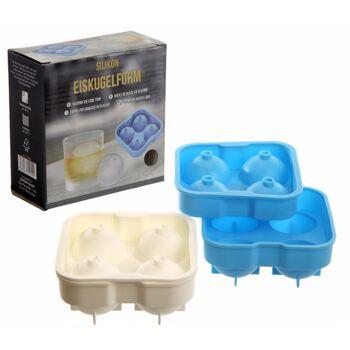 17-71090, Silikon Eiskugelform für 4 Stück Eiskugeln