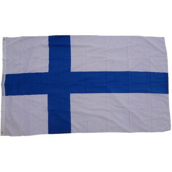Flagge Finnland 90 x 150 cm Fahne mit 2 Ösen 100g/m² Stoffgewicht