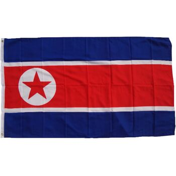 Flagge Nordkorea 90 x 150 cm Fahne mit 2 Ösen 100g/m² Stoffgewicht