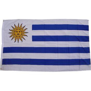 Flagge Uruguay 90 x 150 cm Fahne mit 2 Ösen 100g/m² Stoffgewicht