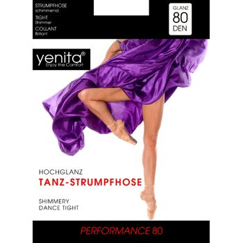 yenita® blickdichte 80 Den Hochglanz-Tanzstrumpfhosen