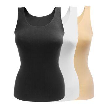 yenita® seamless Damen Unterhemd mit breiten Trägern