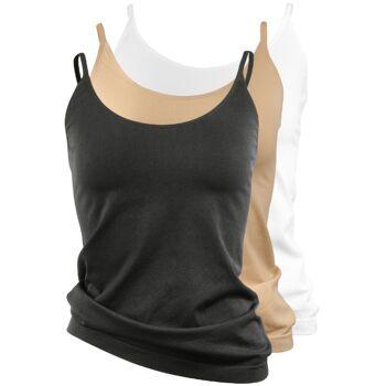 yenita® seamless Damen Unterhemd mit Spaghettiträgern