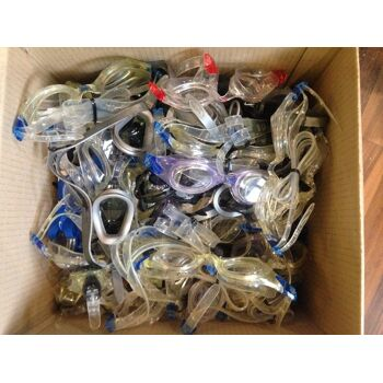 100 Stück Nike Schwimmbrille Taucherbrille NEU