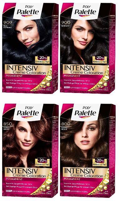 Haarfarbe von palette