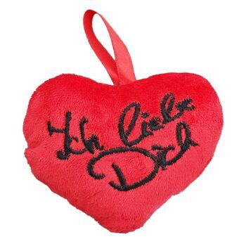 Plüsch Deko Herz Rot