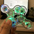 TRANSPARENT LED Fidget Spinner Hand Finger Spinner Anti Stress Konzentration Kreisel Spielzeug Toy ADS ADHS