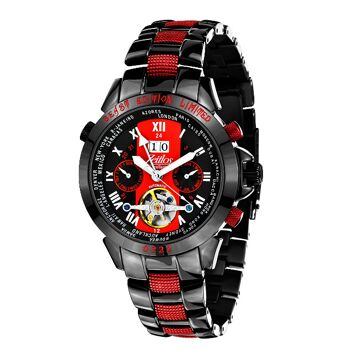 Zeitlos Automatik Uhr ZL-EBE-10 CS Exzellent Beast Herrenuhr schwarz rot aus Edelstahl