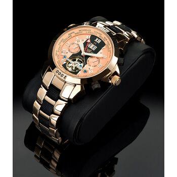 Zeitlos Automatik Uhr ZL-EBE-11 BR Exzellent Beast Herrenuhr Edelstahl Farbe rosé