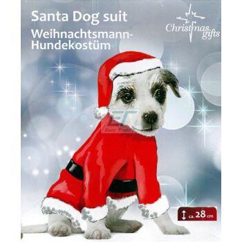 Weihnachtsmann - Hundekostüm ca.28cm