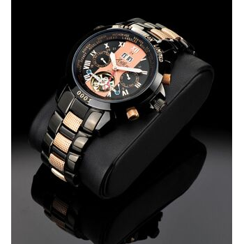Zeitlos Automatik Uhr ZL-EB-10 CR Exzellent Beast Herrenuhr rosé Optik