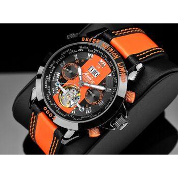 Zeitlos ZL-EB-10 BO Exzellent Beast Automatik Herrenuhr Armbanduhr schwarz orange