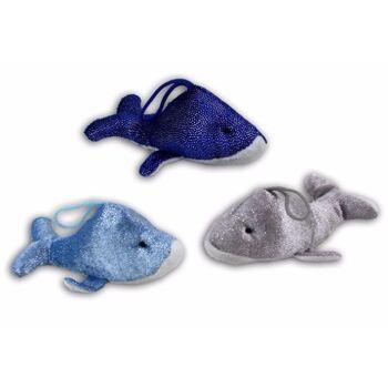 06-5883, Baby Glitzerdelfin 16 cm, liegend, glitzernd, Meerestier, Delphin, Seetier