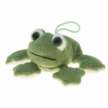 10-154290, Plüsch Frosch, 13 cm, mit plastik Augen, Plüschfrosch