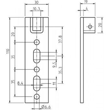 Antriebslager höhenverstellbar 110 x 30 mm