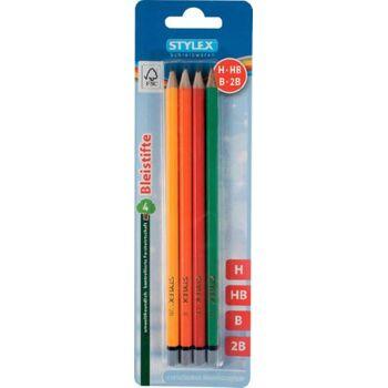 Stylex 4 Bleistifte aus FSC-Holz