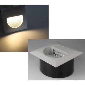 LED Wandeinbauleuchte ''WEL Q14'', IP65, 14 LEDs, Aluminium, warmweiß