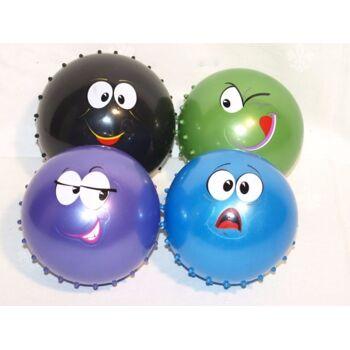 Noppenball 14 cm, mit Gesicht, Strandball, Wasserball, Beachball, Massageball, Spielball, Stachelball++++++++