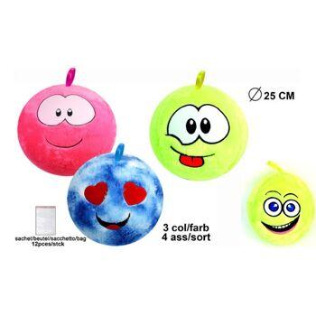 27-71418, Plüsch Ball 25 cm, mit Gesicht, aufblasbar, Spielball, Fussball, Wasserball, Strandball, usw++++++++