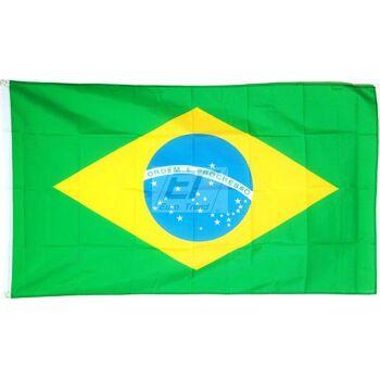 Brasilien Fahne 150 x 90cm mit Metallösen