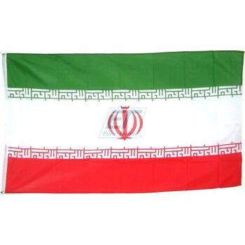 Iran Fahne 150 x 90cm mit Metallösen